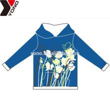 Customized plain unisex hoodies with flower