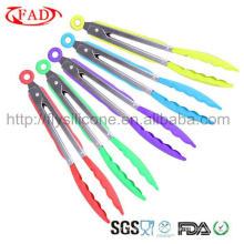 Alta qualidade e bom preço de aço inoxidável Handle Silicone Roasting Tong