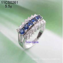 Zirconia cúbico-joias de prata anéis (11CS0261)