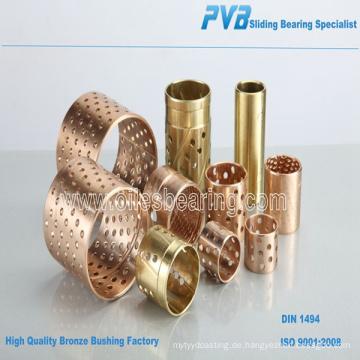 Bronze Bearing Factory, Bronze Buchse Lieferant, CuSn8 Flansch Bronze Buchse