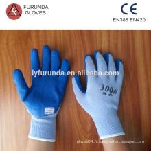 Gants en polycoton avec revêtement latex sur palme, jauge 5 à 5 fils