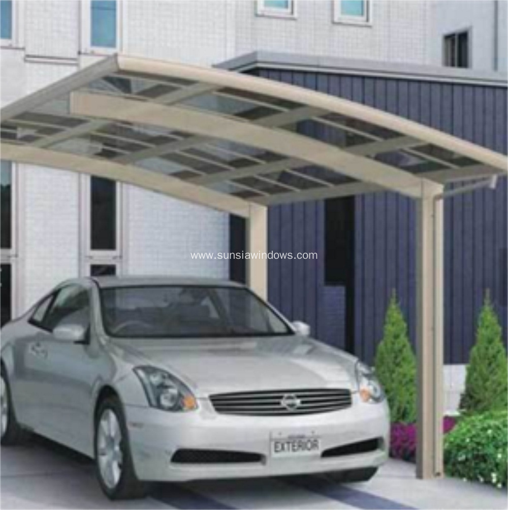 Anti-UV Aluminum Protective Car Shelter