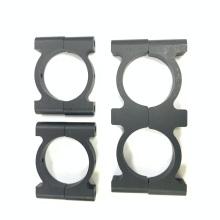 Abrazadera de manguera de aluminio anodizado negro de metal redondo