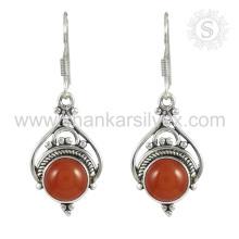 Pendentifs boucles d'oreille en pierres précieuses de cornaline 925 bijoux en argent bijoux en argent faits à la main