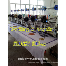 ELUCKY 2015 multi function 8 heads flat,cap computerized embroidery machine