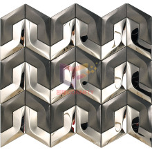 Black and Silver Mixed Stainless Steel Mosaic (CFM997)