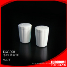 nouveaux produits de Chine pour la vente porcelaine céramique sel et poivre secoueur