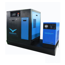 Compact Skid Refrigerator Air Dryer 7bar 8bar 10bar Rotary Mini Screw Air Compressor 7.5KW