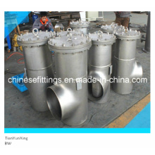 ANSI Three Way Flanged Cover Stainless Steel Basket Strainer