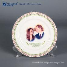 Keramik Weihnachten benutzerdefinierte Platte / dekorative hängende Wand Platten / große dekorative Keramikplatten