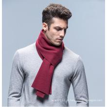 Lenço de inverno de malha de lã de cor lisa moda homens acrílico (yky4619)