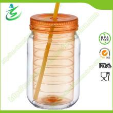 20 onzas aisladas doble como el frasco del albañil sin la tapa (MJ-D1)