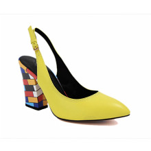 spring lady yellow shoes wholesale women leather handbags shoes