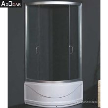 Aokeliay new design cheap price 2 sided frame sliding glass shower enclosure