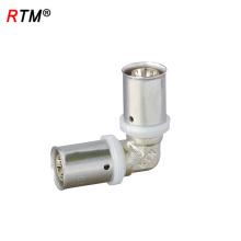 J17 4 13 3 encaixe da imprensa para tubos pex niquelado acessórios para tubos de latão pex al pex tubos e acessórios para prensas