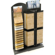 Unique Wood Flooring Display Racks with Angle Shelving
