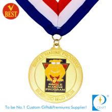 China-kundenspezifische Qualitäts-Goldüberzug-Backen-Lack-Durchlauf-Medaille in der Zink-Legierung