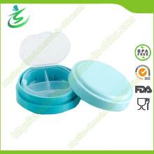 BPA libera la caja redonda mini de la píldora, caja semanal de la píldora