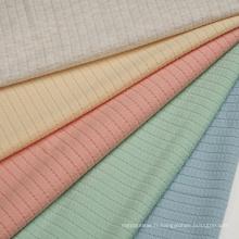 Tissu tricot jacquard côtelé Coton Polyester Spandex Jaquard