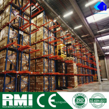 Pallet Storage Forklift Rail Guided Aisle Tunnel Drive En rack