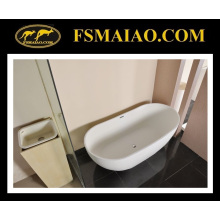 Modern Thin Edge Freestanding Stone Resin Bathtub (BS-8633)