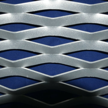 Diamond hole expanded metal mesh ceiling panels