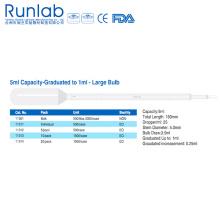 Pipetas de Transferencia de Bulbo Grandes de 5 Ml con Graduación