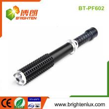 Factory Logo gedruckt Portable Big Aluminium Super Bright Multi-Funktions-Cree führte Polizei Taschenlampe Waffe mit Notfall Hammer