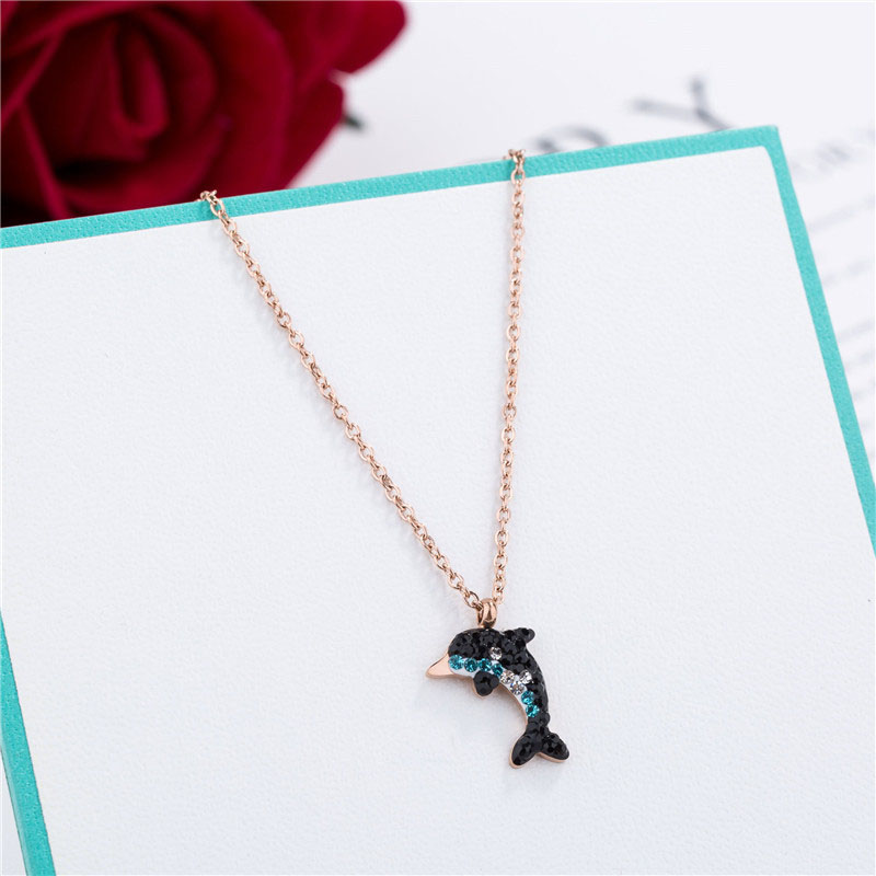 Dolphin Diamond Necklace