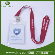 High quality custom promotion lanyard woven round