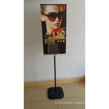 Reliable Pvc Signage Indoor Retail Advertising Freestand Poster Board Stands Metal Display Stand