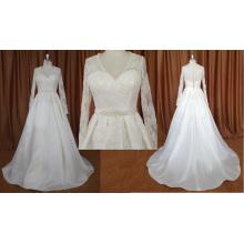 Длинный Рукав Пятно Свадебное Платье