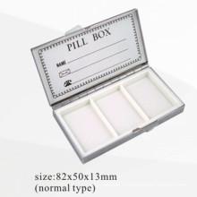 Caja de pastillas de 3 compartimientos pulidos (BOX-36)