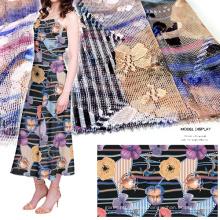 Impreso ropa de encaje de malla / materia textil / tela del vestido