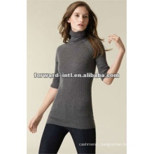 100% cashmere women's high neck sweater, turtle neck pullover