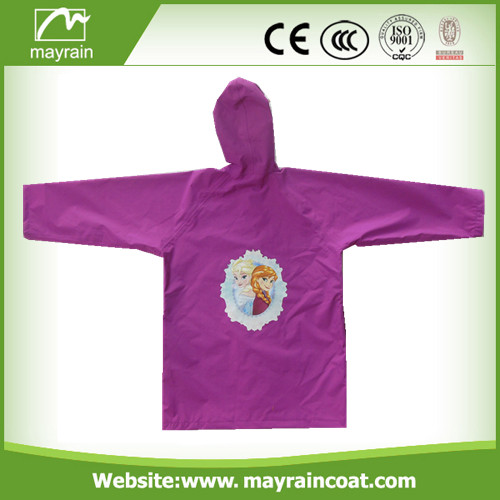 Durable Polyester Raincoat for Kids