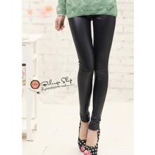 Pantalon en cuir de couture sexy en mode coréenne Fashion Thin