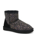 Classic Sequin Faux Fur Bling Bling Snow Boots