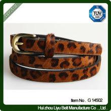 Ceinture en cuir pour imprimé léopard pour femmes