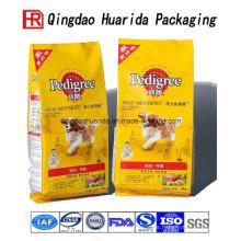 Bolso de empaquetado plástico de la comida de perro de alta calidad