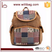 European Style Vintage Canvas Backpack Custom Made Backpacks