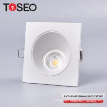 Die casting aluminium square recessed mr16 gu10 housing downlight