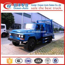 Dongfeng preço barato 4x2 caminhão de lixo hidráulico braço