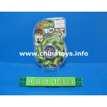 Promoção topo brinquedo musical de metal piscando brinquedo lighit top (081133)
