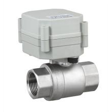 NSF Soupape à bille à eau électrique motorisée en acier inoxydable à 2 voies Valve moteur (T20-S2-A)
