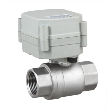 NSF 2 Way Electric Motorized Stainless Steel Water Ball Valve Motor Flow Valve (T20-S2-A)