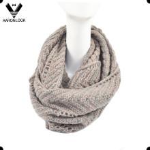Fashion Winter Herringbone Pattern Jacquard Knitted Neck Warmer