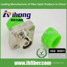 FC / APC Singlemode Optical Bulkhead-Typ Fixed Value Dämpfungsglied 15db