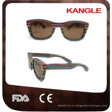 2017 многих цветах фабрики Китая скейтборд древесины солнцезащитные очки