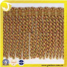 brush golden tassel fringe bullion fringe